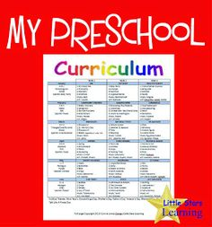 Little Stars Learning: My Preschool Curriculum