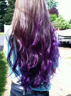 Dark Purple Ombre from longhairstyleshowto.com