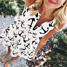 not a big fan of the whole anchor obsession trend, but this dress is adorable!