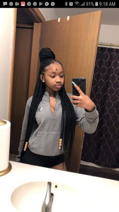 85 Box Braids Hairstyles for Black Women - Hairstyles Trends Box Braids Hairstyles, Braided Hairstyles For Black Women, My Hairstyle, Girl Hairstyles, Teenage Hairstyles, African Hairstyles, Natural Black Hairstyles, Fringe Hairstyle, Braided Ponytail Hairstyles
