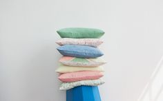 Now on SALE at 50%+ off. http://hazelstark.bigcartel.com/products Naturally dyed linen cushions from £15!