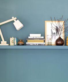 Wand+wandplank in 1 kleur