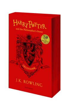 Harry Potter | House Editions: Gryffindor paperback. Exclusive Gryffindor house edition to celebrate the 20th Anniversary of the first publication of Harry Potter and the Philosopher's Stone.