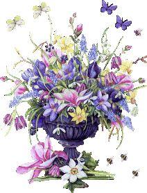 leuke en gratis  glitter bloemen mooie krabbels
