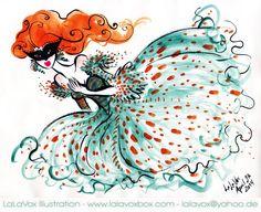 © LaLaVox - www.lalavoxbox.com - india ink and gouache sketch