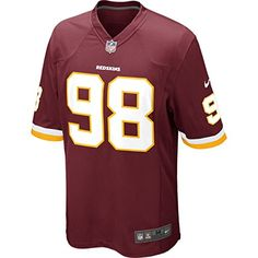 256c6f288 Nike NFL Washington Redskins (Brian Orakpo) Men s Football Home Game Jersey  Size Large (Red)
