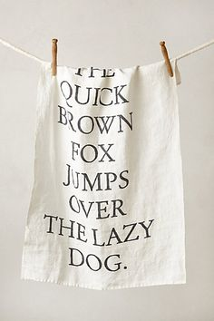 love this // 100% linen tea towel