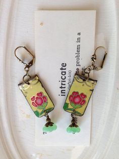 Tin Jewelry Earrings Yellow Sky Tin for the Ten by TheMadCutter, $31.00