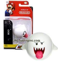 "Jakks Pacific Year 2015 World of Nintendo ""Super Mario"" Series 2 Inch Tall Mini Figure - BOO"