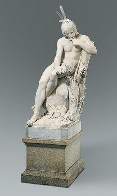 Hiawatha Agustus Saint-Gaudens  Carving 1874