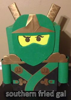 Boy Ninja Valentine Box Craft Idea Are you trying to convince your boy it's time to make a Valentine box for school? He's sure to get excited about these Valentine boxes boys will love! Ninjago Valentines, Kinder Valentines, Unicorn Valentine, Valentines For Boys, Valentine Day Crafts, Valentine Ideas, Printable Valentine, Valentine Party, Homemade Valentines