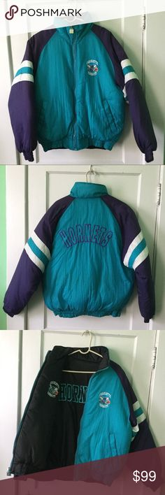 435421c643a5 Charlotte Hornets Vintage Reversible Puffer Jacket Show off your fan pride  in this vintage Chalk Line
