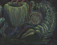 Christine Sefolosha Botanical Phantasy #2, 2014 Oil monotype and colored pencil on paper 19 x 23.75 inches 48.3 x 60.3cm  CSe 101