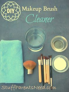 Very simple steps for how to clean makeup brushes. Uses things you already have on hand, and not only cleans, but moisturizes your brushes to extend their life.