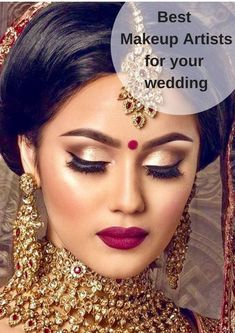 Ideas For Wedding Indian Makeup Bridal Looks Make Up Bridal Hairstyle Indian Wedding, Indian Wedding Makeup, Indian Bridal Hairstyles, Wedding Day Makeup, Indian Wedding Jewelry, Indian Jewelry, Wedding Hairstyles, Indian Weddings, Hair Wedding
