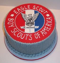 Congratulations, Eagle Scout! - I made this pound cake with buttercream filling to celebrate the accomplishments of an Eagle Scout.  Top is fondant, sides are buttercream.