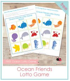 Ocean Friends Lotto Game FR - free file folder games