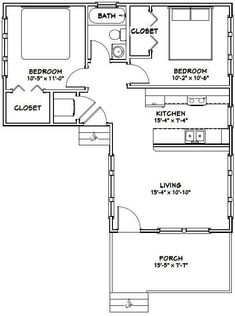 16x30 Tiny House -- #16X30H4F -- 705 sq ft - Excellent Floor Plans by Andrea Hurn