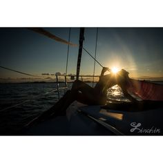 Sunset Lady Silhouette Fine Art Photography Print for Wall Home Decor. ($20) via Polyvore featuring home, home decor, wall art, sunset wall art and silhouette wall art