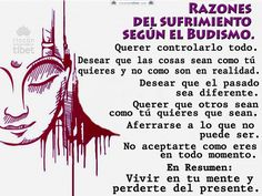 Razones del sufrimiento segun el budismo