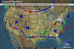 Interstate Forecast Maps Weathercom WEATHER INTERSTATE - Us current surface map
