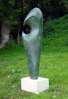 Bronze resin Abstract or Modern Garden / Yard #sculpture by #sculptor Michie Herbert titled: 'Eclipse (Bronze resin Abstract Garden /Yard Modern Sculptures)' #art