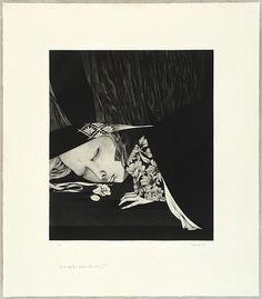 Kaoru Saito born 1931. Event: Japanese Prints and The Tale of Genji - 1472. Title: Story of the Lord of Heaven - Tenshu Monogatari