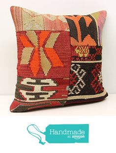 Patchwork kilim pillow cover 18x18 inch (45x45 cm) Handmade Kilim pillow cover Sofa Decor Accent Pillow cases Hand woven Cushion Cover https://www.amazon.com/dp/B01N5CSJC6/ref=hnd_sw_r_pi_dp_pfbsyb2XMP4MM #handmadeatamazon