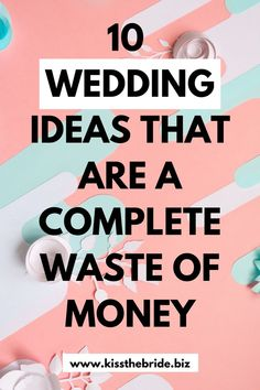 Weddings Discover 10 Wedding ideas that waste money ~ KISS THE BRIDE MAGAZINE With so many wedding ideas, we highlight all the wedding ideas that are a waste of money Wedding Costs, Wedding Advice, Plan Your Wedding, Wedding Ideas, Dream Wedding, Crazy Wedding, Wedding Decor, Wedding Stuff, Diy Wedding Planner