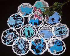 Advanced Embroidery Designs - FSL Battenberg Zodiac Doily Set