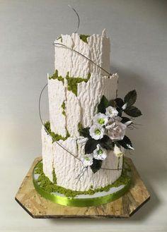 Rustic - cake by Oksana Kliuiko Fancy Cakes, Cute Cakes, Pink Cakes, Wedding Cakes With Cupcakes, Cupcake Cakes, Beautiful Cakes, Amazing Cakes, Fantasy Cake, Wedding Cake Rustic