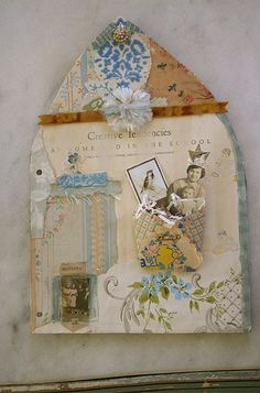 Collage book page by Pam Garrison - she was a huge influence on me in discovering my love for collage and assemblage.  Thank you, Pam.