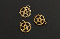 24K Gold Vermeil Over Sterling Silver Steam Punk by Beadspoint, $7.99