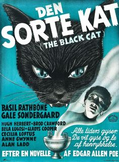the BLACK CAT (1941) This is from the Bela/Basil Rathbone comedy-not the classic 1934 Bela/Boris film
