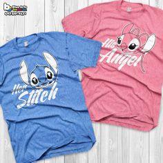 Disney Couple Shirts Stitch and Angel Lilo and stitch Matching
