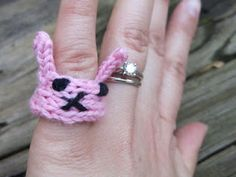 oh i could really make one of this~ bunny ring