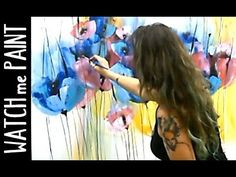 Acrylicpainting Demo Timelapse painting - abstract painting floral art by zAcheR-fineT - YouTube