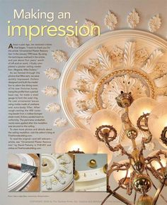 Fine Homebuilding reader, Mike Dufano took dozens of photos to document the plaster ceiling medallion he made after being inspired by one of our cover stories. His hard work paid off. Mike's medallion is featured on the back cover of our August/September issue.