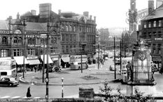 Bradford, from Morley Street towards Town Hall Square c1955