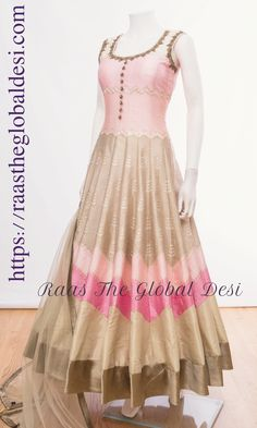 indian clothing ONLINE USA Silk brocade top with golden embroidery with matching bottom and dupatta Indian Gowns Dresses, Indian Fashion Dresses, Indian Designer Outfits, Indian Outfits, Pakistani Outfits, Indian Clothes, Prom Dresses, Designer Anarkali Dresses, Designer Dresses