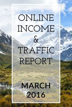 The Extra Income Project's March 2016 Blogging Online Income & Traffic Report. A personal finance blog documenting a journey of getting out of massice debt to becoming debt free and financially stable by generating income online and setting up streams of passive income.