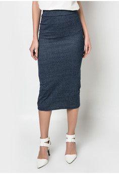 Chictees Midi Denim Skirt With Slit #onlineshop #onlineshopping #lazadaphilippines #lazada #zaloraphilippines #zalora