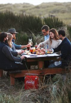 Rustic and casual meals outdoors, the Oregon coast. #cokestyle Thanks to our friends at Coca-Cola!