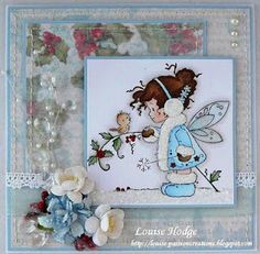 image is Whimsy Stamps Christmas Winter Fairy, such a cutie.