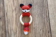 Reinaard the Fox - Teething Rattle Ring Crochet Pattern