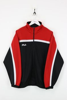 Fila Track Jacket Black/Red XL - Fila Track Jacket Black/Red XL Source by leakrber - Cute Fashion, Look Fashion, Korean Fashion, Fashion Outfits, School Looks, Cool Outfits, Casual Outfits, Red Outfits, Fila Outfit