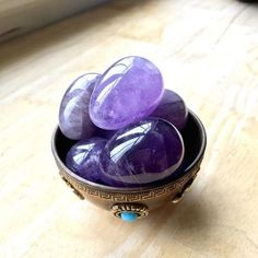 """SIZE: x EXCERPT: """"How to Use the Yoni Egg for Sensual Healing"""": Amethyst is a wonderful Yoni Egg for women who are trying to connect to the deeper spiritual value of sex. Spiritual Values, Spiritual Awareness, Hashimoto Thyroid Disease, Kundalini Meditation, Out Of Body, Chakra, Wild Hearts, Gems And Minerals, Wands"""