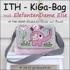 ITH * Stickdatei KiGa TASCHE mit little STORY Else - 16x26 - 9.99euro