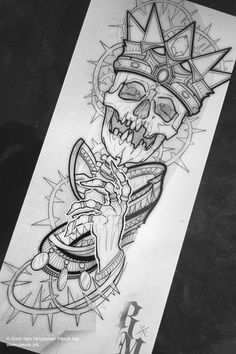 Tattoo Design Drawings, Skull Tattoo Design, Tattoo Sleeve Designs, Skull Tattoos, Tattoo Sketches, Leg Tattoos, Body Art Tattoos, Tattoos For Guys, Half Sleeve Tattoo Stencils