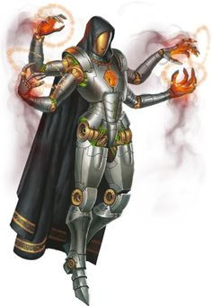 """Artificial """"mage"""" from a fantasy themed entertainment system Fantasy Character Design, Character Concept, Character Inspiration, Character Art, Concept Art, Warlock Class, Space Fantasy, Dnd Art, Fantasy Monster"""